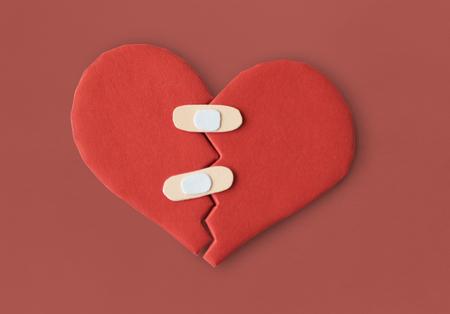 HeartBroken Bandage Cure Heal Paper Craft