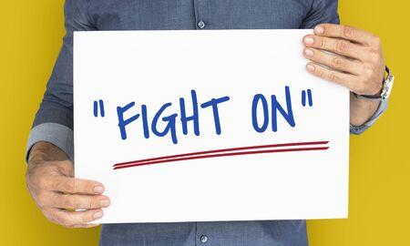 動機の単語メッセージを戦い続ける 写真素材 - 77968195