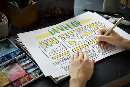 Develop Improve Business Plan Concept Stock Photo