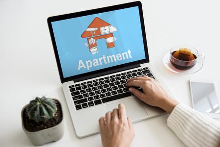 Apartment Home Your Space Decoration Renovation Style Фото со стока