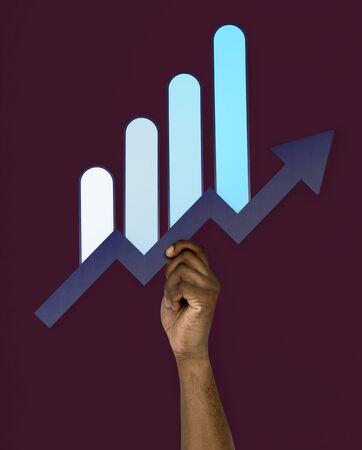 Hand Up Holding Chart Illustration