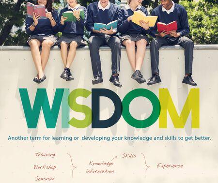 커리큘럼 정보 학교 자습서 연구소 개념 스톡 콘텐츠