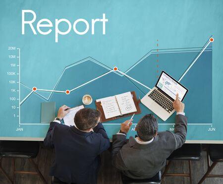 企業のビジネス ライン グラフ レポート 写真素材 - 77940763