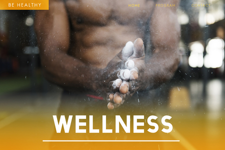 Webpage with wellness concept