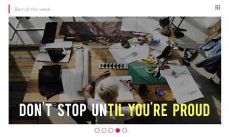 Dont Stop Goal Inspiration Office Girl Banco de Imagens