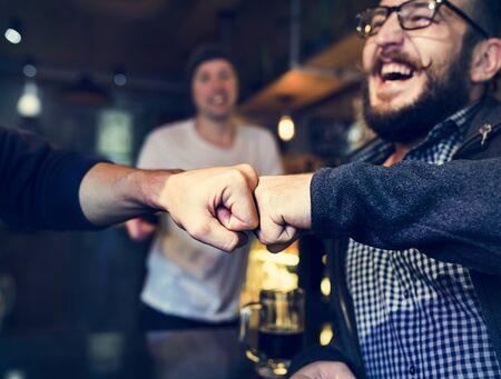 Fist Bump Vrienden Deal Partner Touch Paar Handen