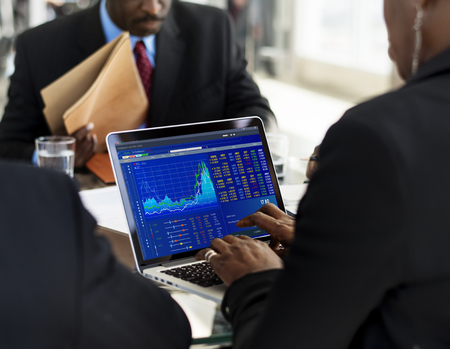 Graphic of investment stock market data analysis business Stock Photo