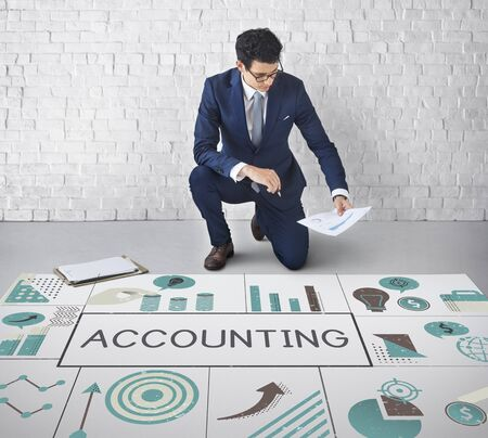 Businessman planning financial marketing strategy