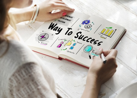 Way to success business plan sketch Stock fotó - 77926104