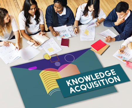 Education Knowledge Acquisition WIsdom Literacy Textbook Stock Photo
