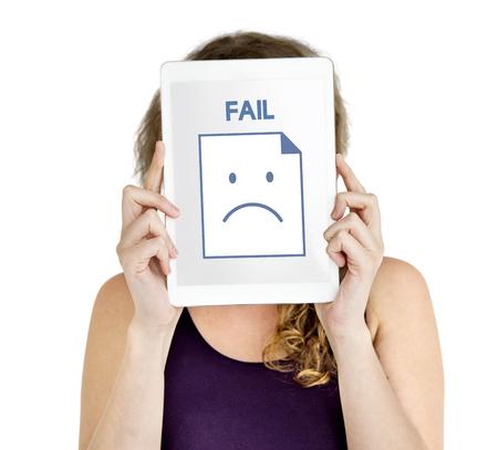 Sadness Fail Problem Recession Down Frustration Icon Reklamní fotografie - 77929467