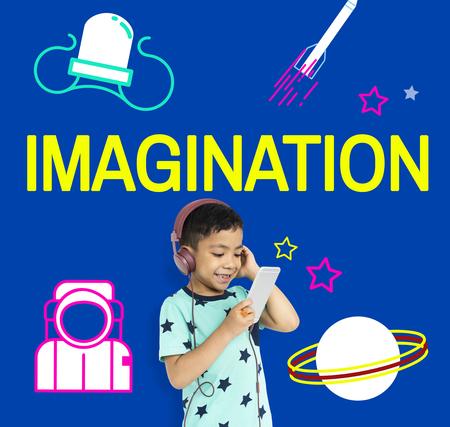 Imagination galaxy cheerful illustration learning