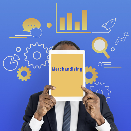 merchandising: Business Strategy Management Merchandising Illustration Stock Photo