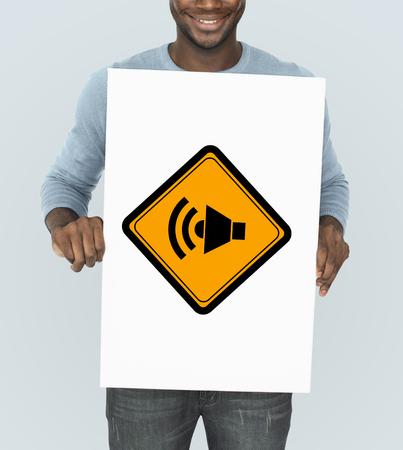 Show Megaphone Loudspeaker Announce Sign