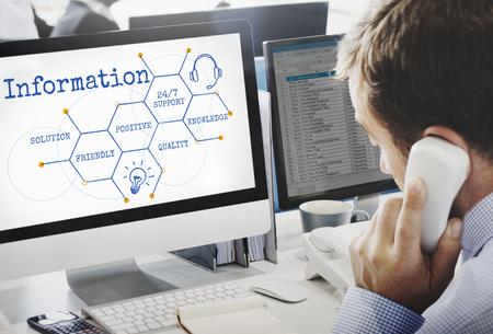 Technische ondersteuning Help Connection Hive Stockfoto