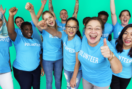 non profit: Group of Diverse People as Donation Community Service Volunteer