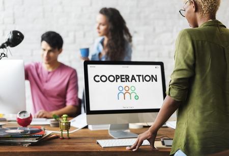Communautaire Samenwerking Corporate People Graphic Word