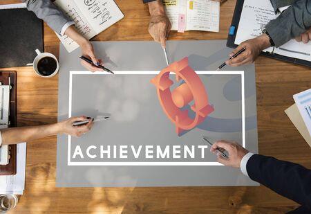 skills diversity: Achievement Strategy Market Progress Business Stock Photo