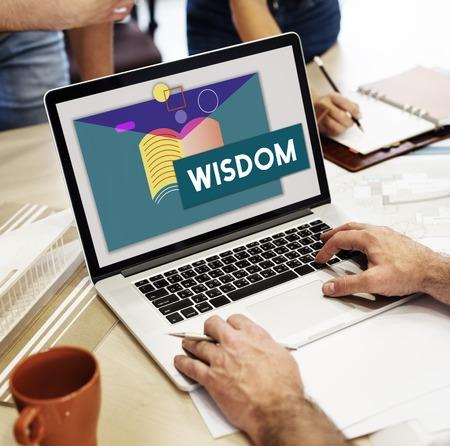 교육 지식 습득 WIsdom Literacy 교과서 스톡 콘텐츠 - 78175120