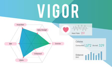 Graphic with vigor concept