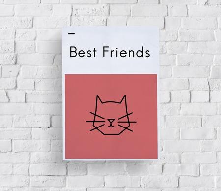 pet store advertising: Adopt Animals Best Friends Cat Icon