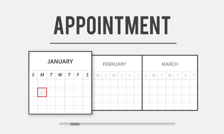 Graphic with calendar and appointment concept