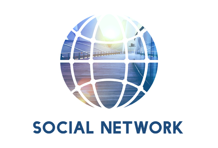 Social Networking Connection Global Communication Stock Photo