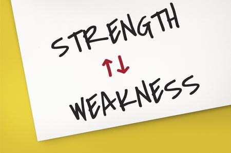 Strength Weakness Arrow Up Down Word Stock Photo