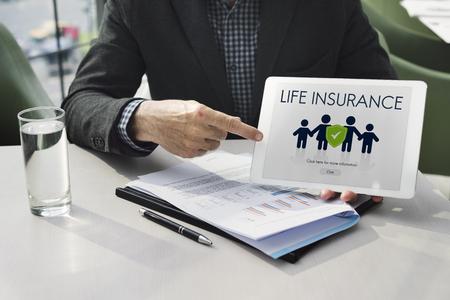 Insurance Coverage Mix Reimbursement Protection Concept Imagens