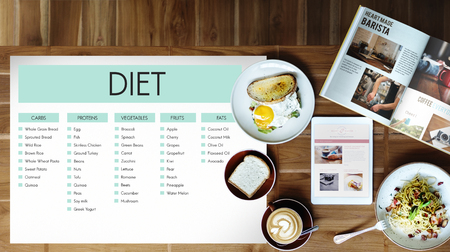 Food with diet concept