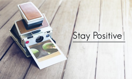 Stay Positive Lifestyle Instant Film Stock Photo