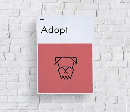 Adoptar Animales Mejor Amigos Perro Icono Foto de archivo - 78173559