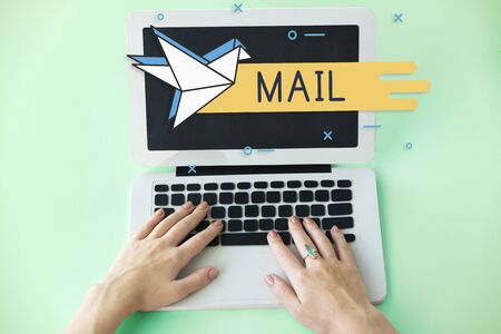 reminding: Mail Postal Communication Connection Correspondence Stock Photo