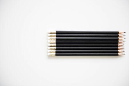 Pencil Lined Up Row Neat Фото со стока