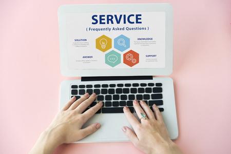 answer: Customer Service FAQs Illustration