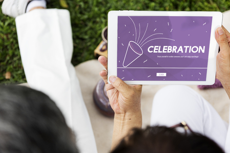 correlated: Holiday New Beginnings Celebration Start Up Stock Photo