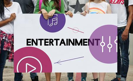 Music Streaming Media Entertainment Equalizer Фото со стока