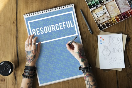 resourceful: Resourceful Hiring Raw Material Management Stock Photo