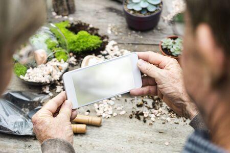 Digital Technology Device Gardening Background