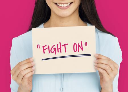 動機の単語メッセージを戦い続ける 写真素材 - 78167062