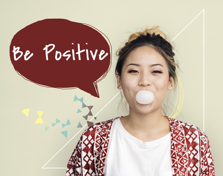 Be Yourself Positieve Optimistisch Brave Live Your Life Stockfoto