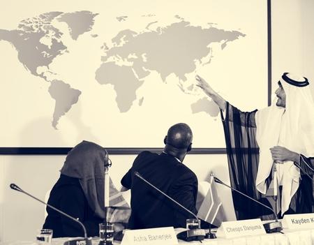 Arabian Explaining Speaker Presentation Conference Partnership