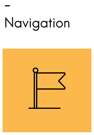 Flag with navigation concept