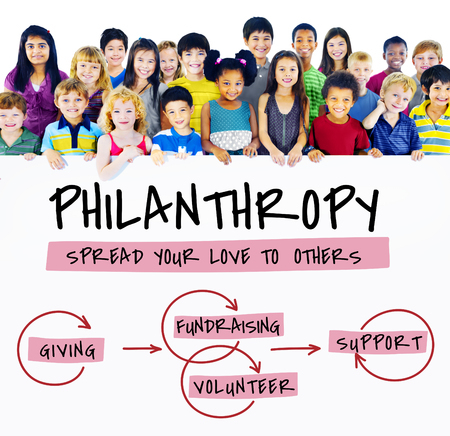 Schenker Grantor Philanthropy Vrijgevigheid Geven Stockfoto