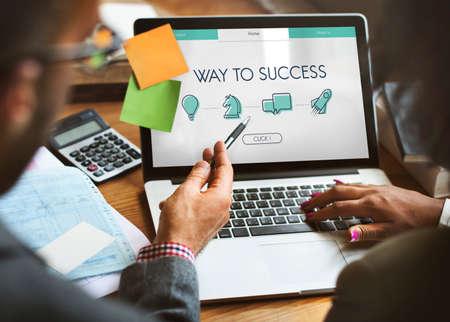 ビジネス目標起業家成功新人