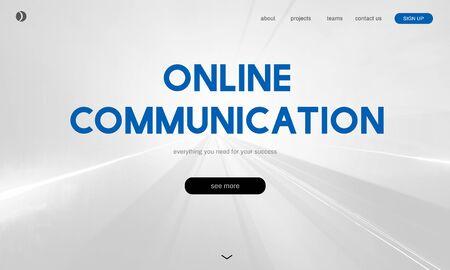 Online-Kommunikation Internetverbindung Soziale Standard-Bild