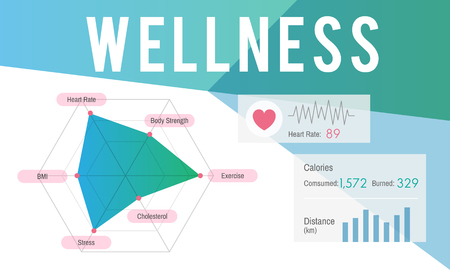Graphic with wellness concept 스톡 콘텐츠
