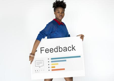 피드백 응답 평가 설문 조사 보고서 스톡 콘텐츠