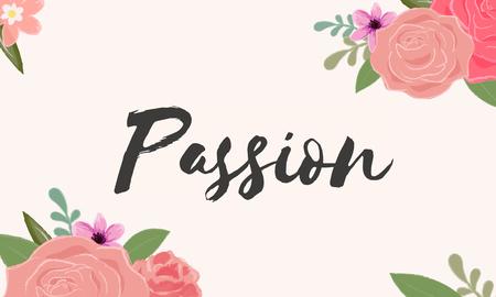 열정 사랑 편지 메시지 단어 그래픽 스톡 콘텐츠