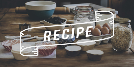 Baking and recipe concept